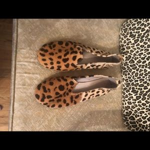 Shoes - Leopard print slip on loafers 8